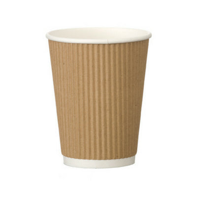 16oz Tall Ripple Kraft Coffee Cup