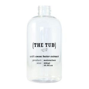The Tub Moisturiser 300ml Empty Printed Bottle