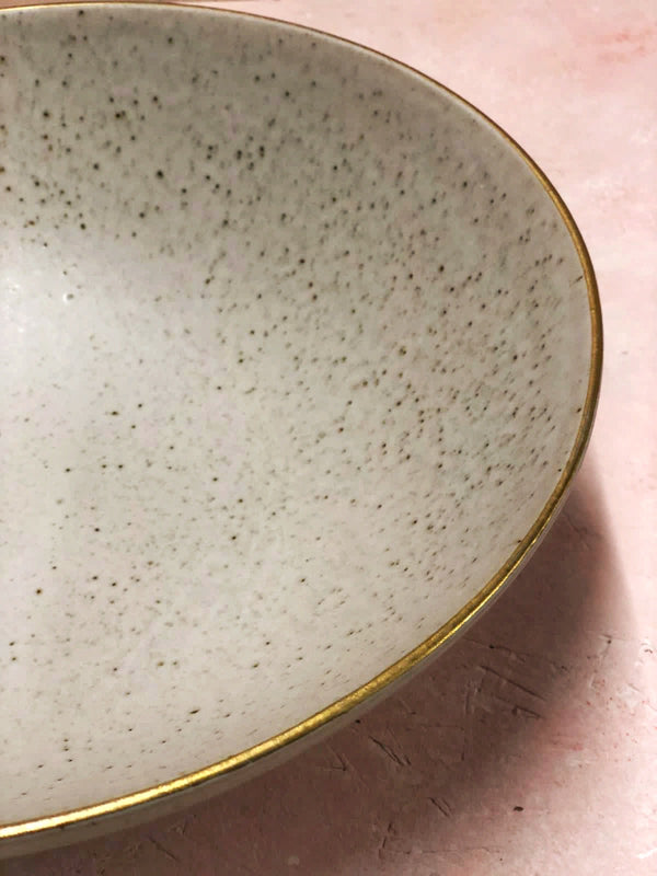 Roberta Large Serving Bowl (Gold Rim)