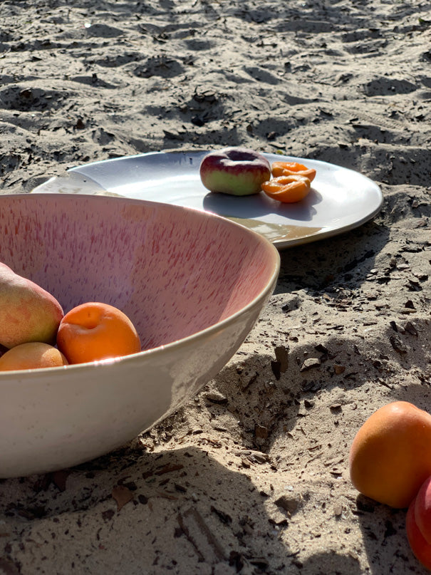 Inês Medium Serving Bowl (Natural Rim)