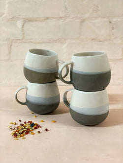 Luzia Large Mug (Grey & Light Blue)