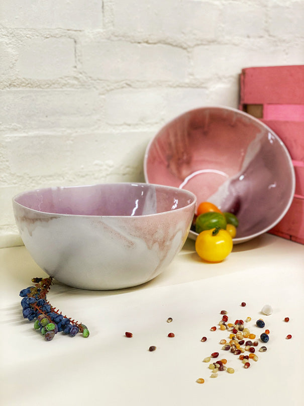 Anna (Pink, Violet & Purple) Large Serving Bowl
