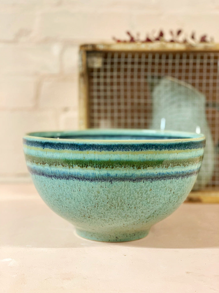 Turquoise Large Serving Bowl