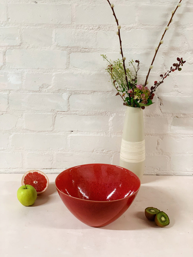 Lava Red Large Serving Bowl