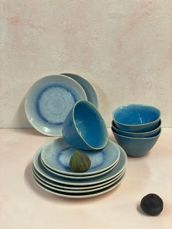 Aelia Light Blue Dinner Set (4, 6 or 8 people)
