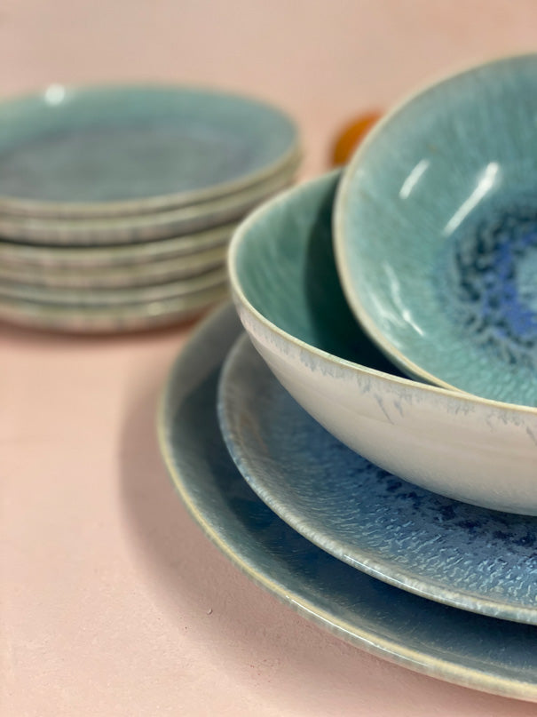 Aelia Blue Green Dinner Set (4, 6 or 8 people)