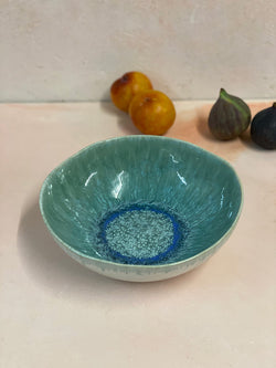 Aelia Blue Green Pasta Bowl