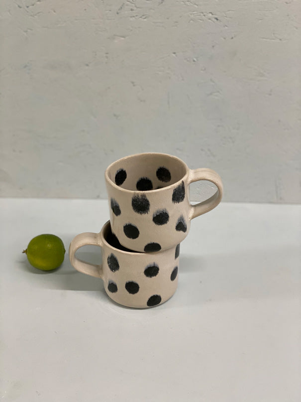 Spotty Blue Large Mug