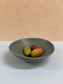 Emilija Grey Medium Serving Bowl
