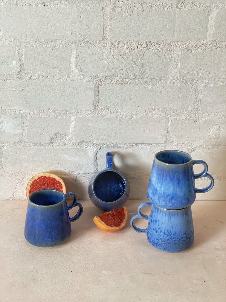 Blue Village Large Mug