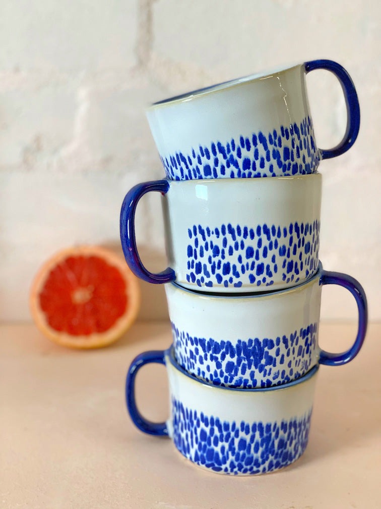 Blue Dotted Large Mug