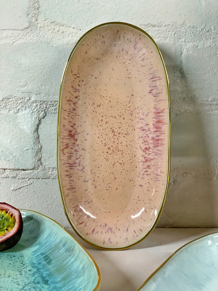Inés Small Serving Platter (natural or gold rim)