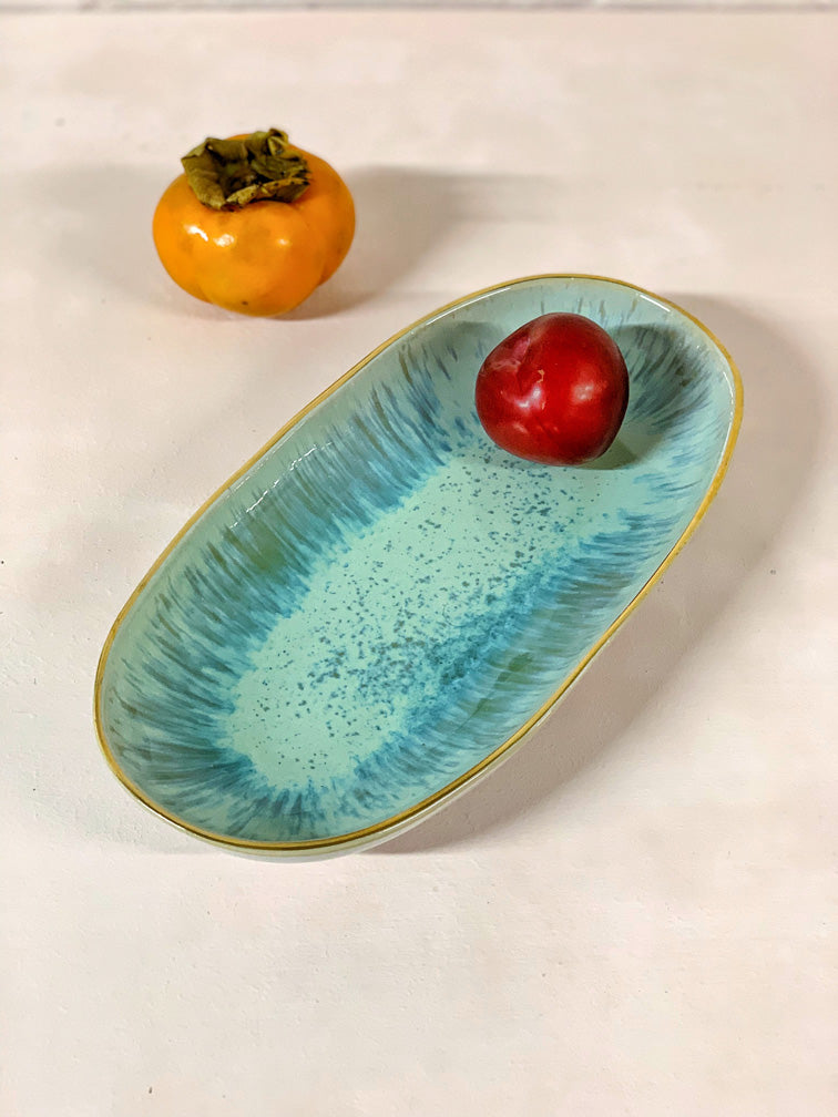 Léonor Small Serving Platter (natural or gold rim)