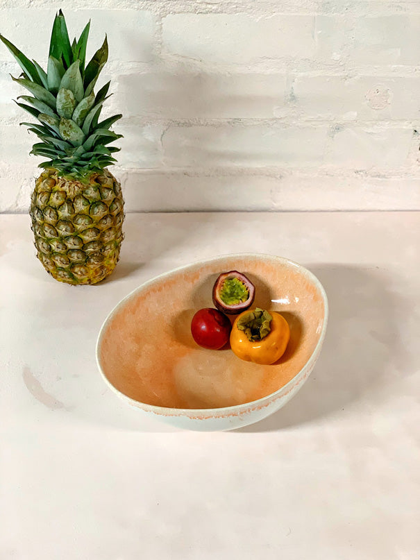 Catarina Large Serving Bowl (Coral)