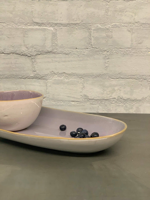 Sofia Large Serving Platter (Natural or Gold rim)