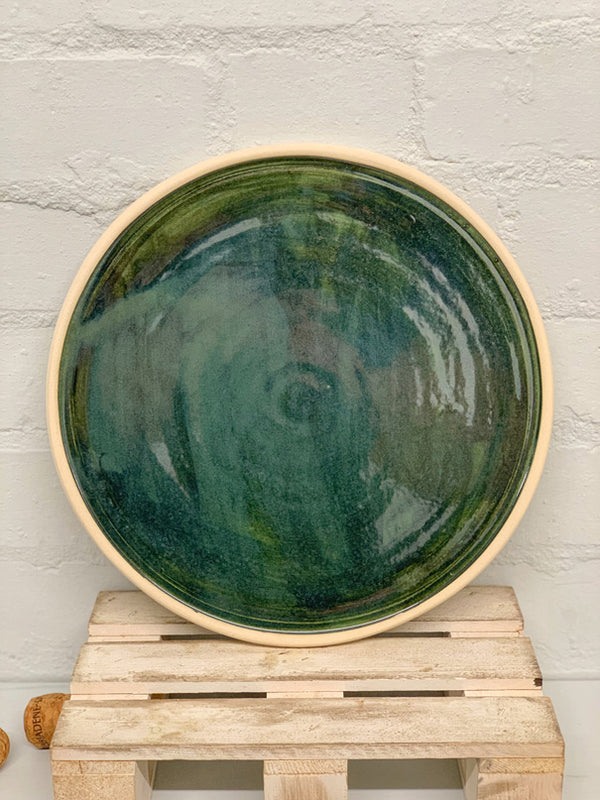 Bisila Dark Green Artisan Plate (Two Pieces)