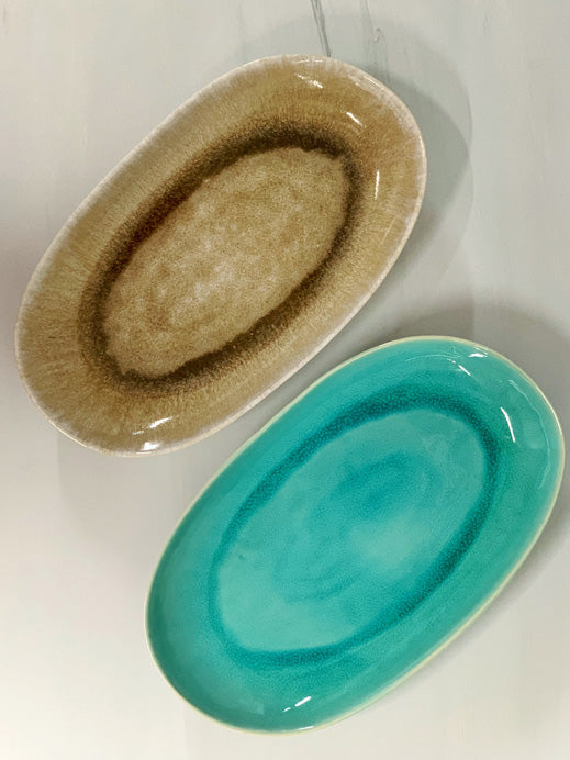 Catarina Large Serving Platter (Teal Glaze)