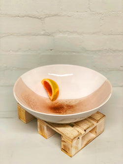 Anna (Pink Crackle Glaze) XL Serving Bowl