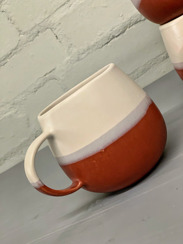 Luzia Large Mug (Bordeaux & Light Grey)