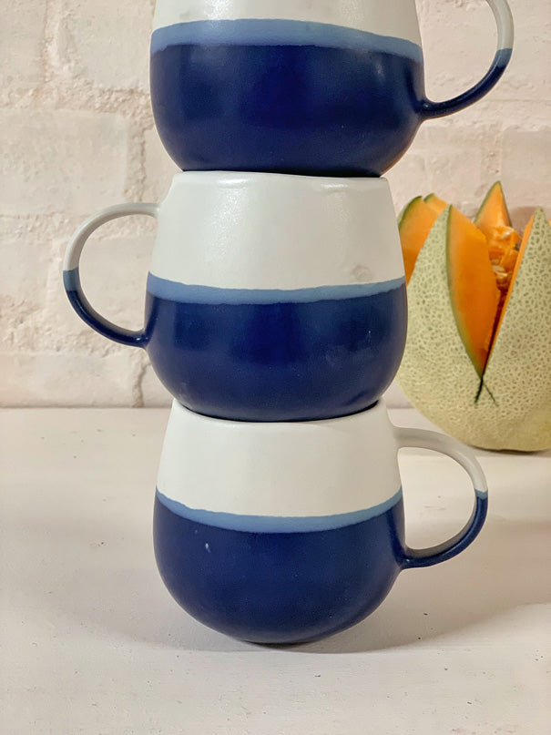 Luzia Large Mug (Blue & Light Grey)