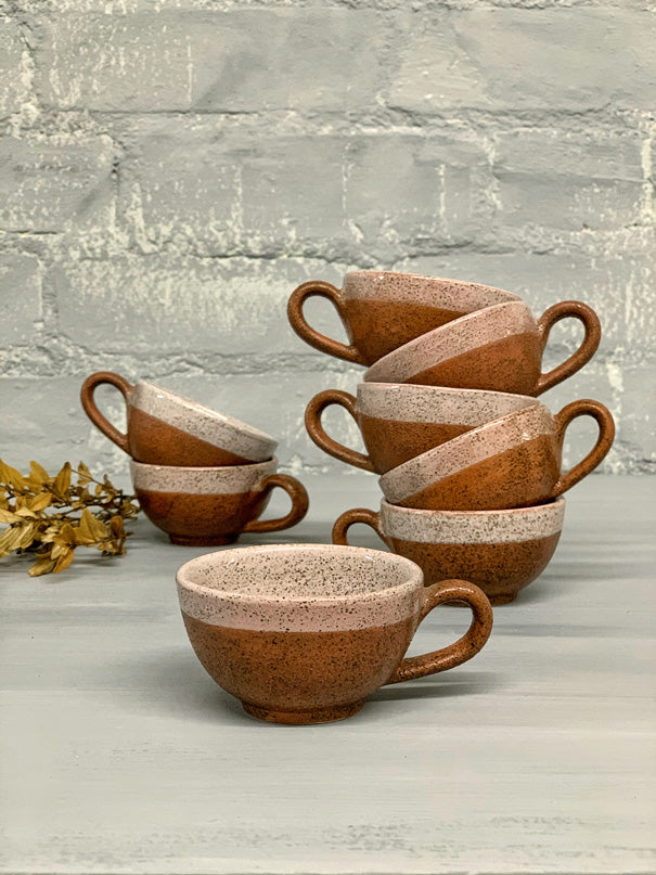 Maggie Espresso Cup (Speckled Grey with Brown Clay)