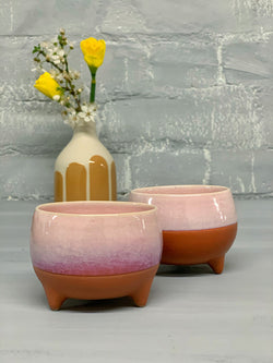 Maggie Espresso Cup (Pink with Brown Clay)
