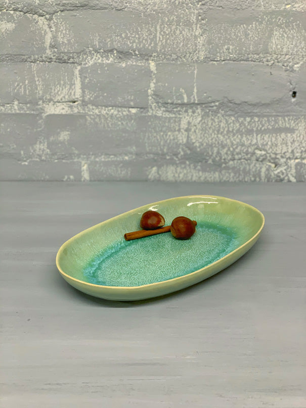 Catarina Medium Serving Platter (Green)