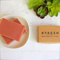 RFRESH Handmade Natural Clay Unscented Soap - Rose Clay + Oatmeal Soap