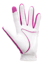 Load image into Gallery viewer, Copper Tech Glove, White/Fuchsia, 2-Pack Ladies LH