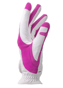 Copper Tech Glove, White/Fuchsia, 2-Pack Ladies LH