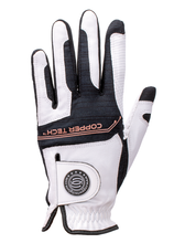 Load image into Gallery viewer, Copper Tech Glove White/Black 2-Pack Men's LH