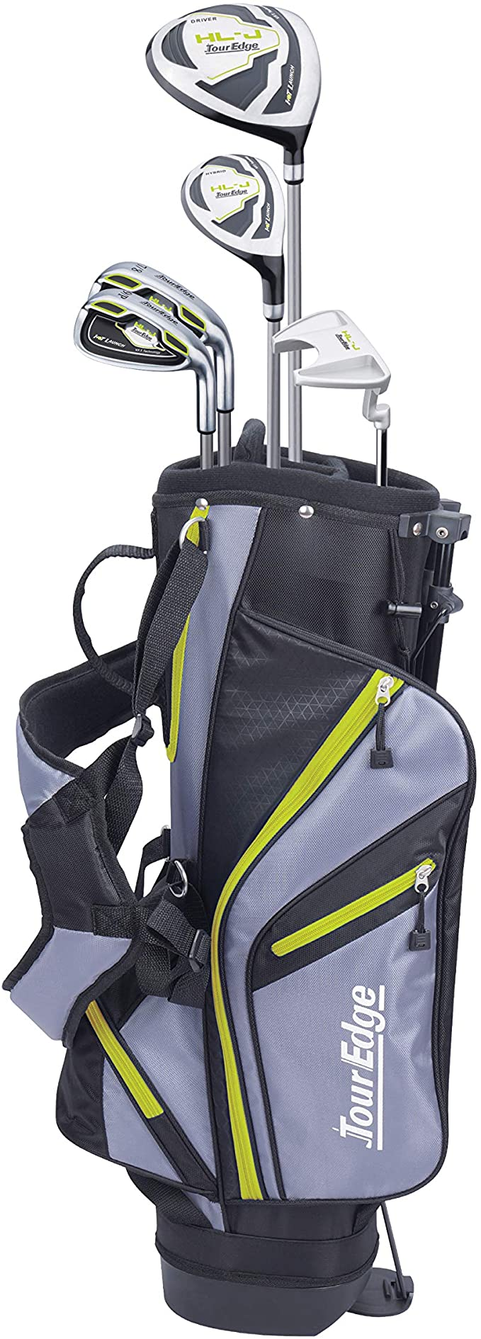 Tour Edge HL-J  Left-Handed Lime Junior Set With StandBag (Height 52
