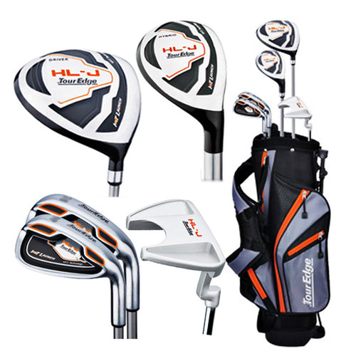 Tour Edge HL-J Right Handed Orange Junior Set With Bag (Height 46