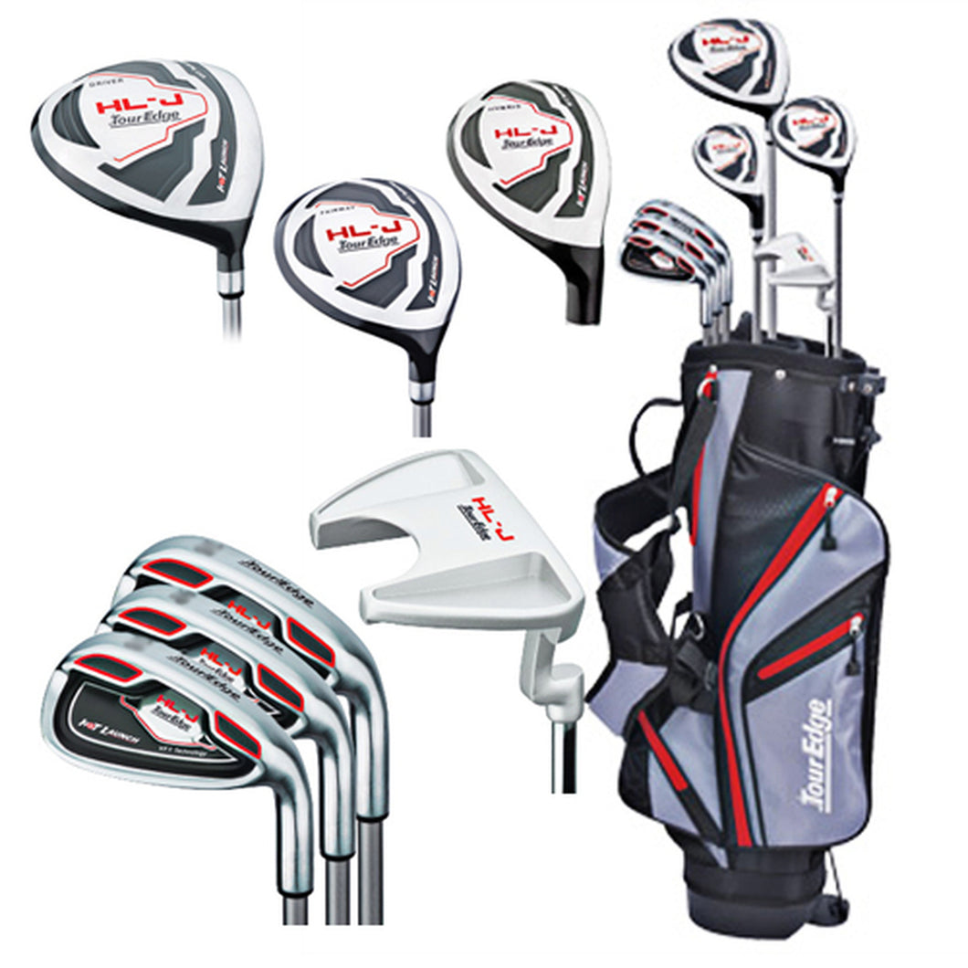 Tour Edge HL-J Right-Handed Red Junior Golf Set With Bag   (Height Range 58