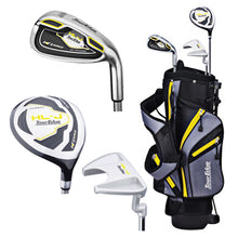 "Load image into Gallery viewer, Tour Edge Right Handed HL-J Yellow Junior Set With Standbag (Height 40""-46"")"