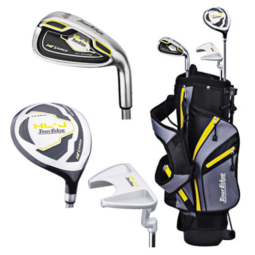 Tour Edge Right Handed HL-J Yellow Junior Set With Standbag (Height 40
