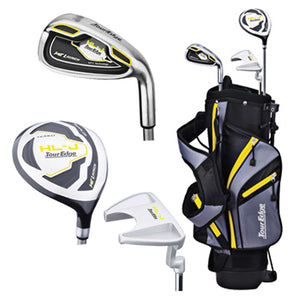 "Tour Edge Right Handed HL-J Yellow Junior Set With Standbag (Height 40""-46"")"