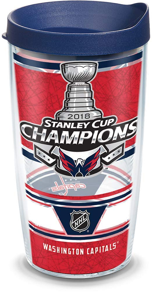 Washington Capitals Stanley Cup Champions 16 oz Tervis Tumbler with Travel Lid