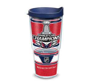 Washington Capitals Stanley Cup Champions Tervis Tumbler wiith Travel Lid,  24 oz.