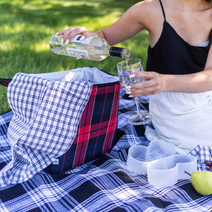 Packable Plaid Picnic Blanket