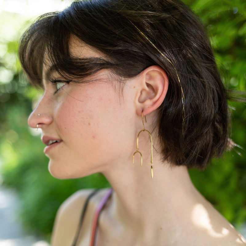 Golden Mobile Earrings