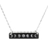 Silver Moon Phases Necklace