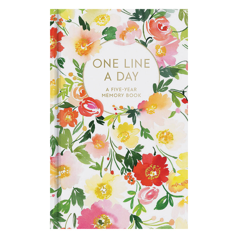 One Line A Day Journal - Romantic Florals
