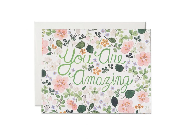"""You Are Amazing"" Card"