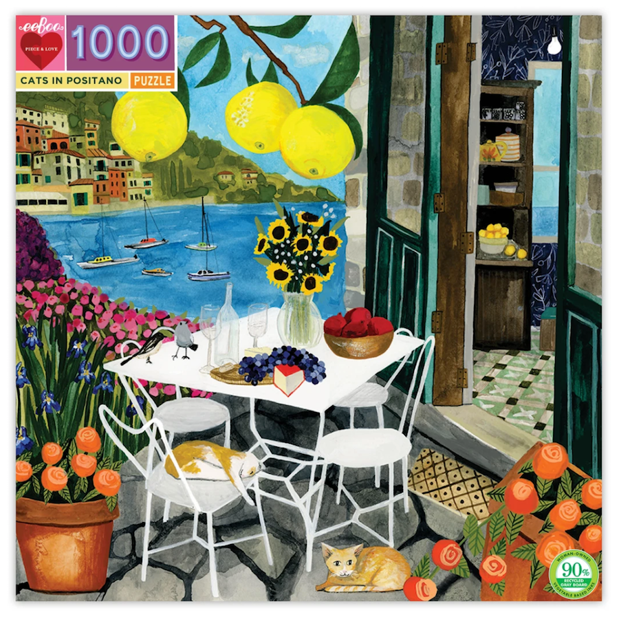 Cats in Positano Puzzle - PRE-ORDER FOR APRIL 10TH SHP