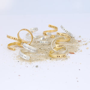 """End of Your Rope"" Gold Wrap Ring"
