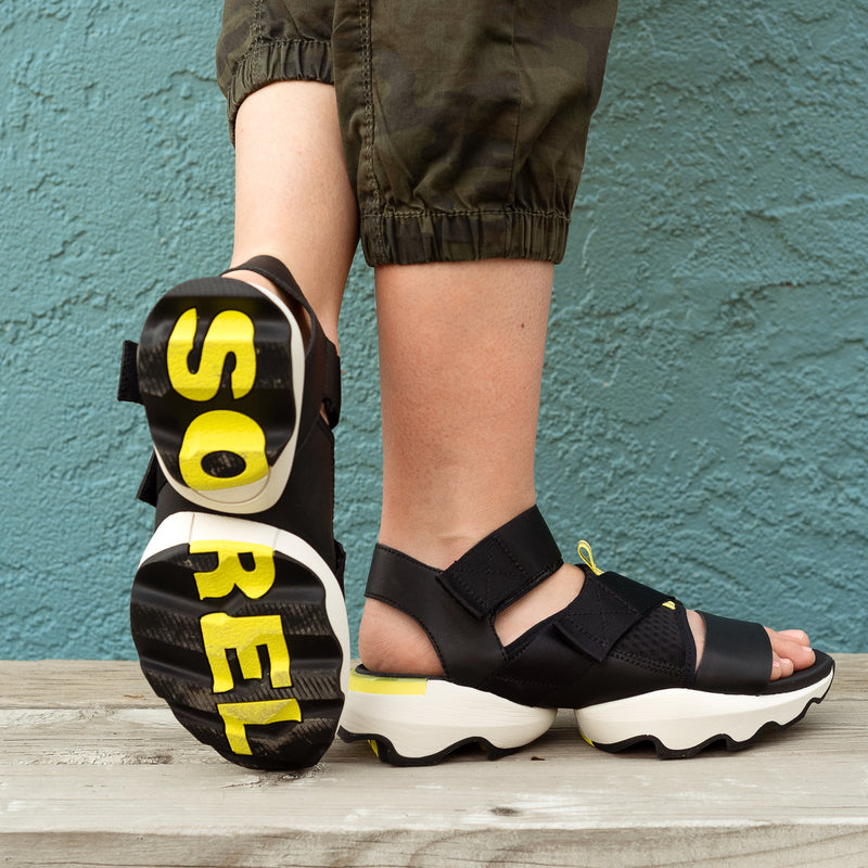 Black Kinetic Athleisure Sandal