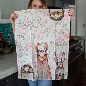 Baby Llama & Friends Tea Towel