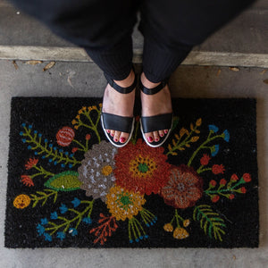 Golden Bloom Door Mat