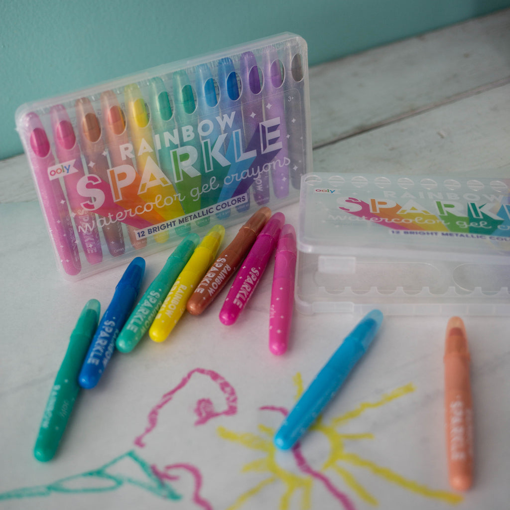Rainbow Sparkle Watercolor Gel Crayons
